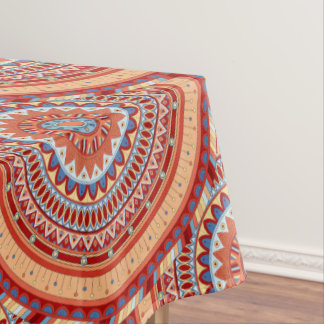 Boho mandala abstract pattern design tablecloth