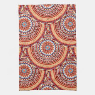 Boho mandala abstract pattern design tea towel