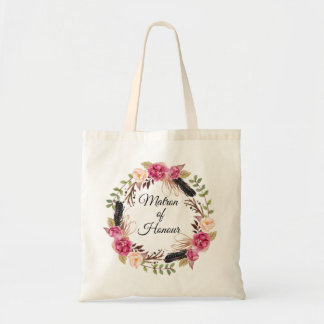 Boho Matron of Honour Gift Rustic Wedding Party Tote Bag