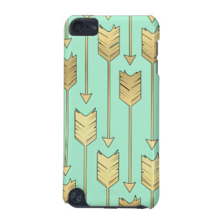 Boho Mint and Faux Gold Arrows Pattern iPod Touch (5th Generation) Cover