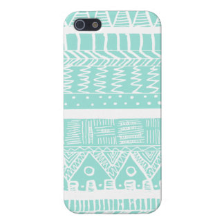Boho Mint Aztec Cover For iPhone 5/5S
