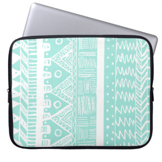 Boho Mint Aztec Laptop Sleeve
