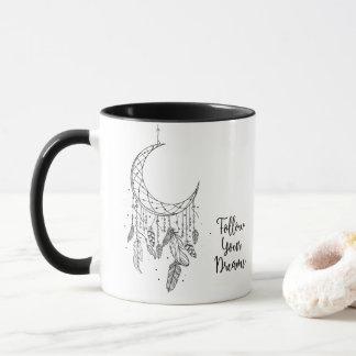 Boho Moon Dream Catcher Follow Your Dreams Mug