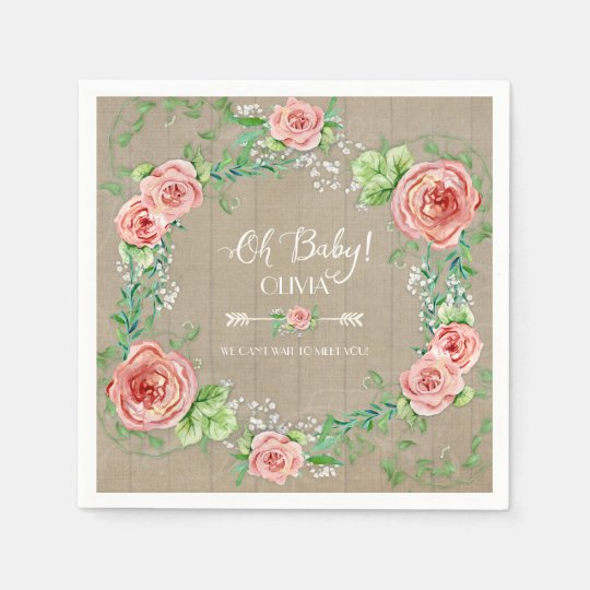 BOHO Oh Baby Girl Shower Arrow Flower Crown