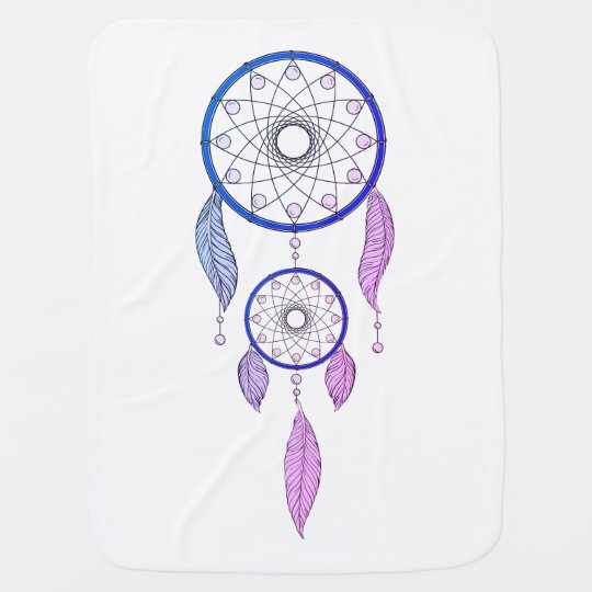 Boho Ombre Dream Catcher Baby Blanket