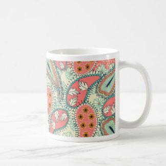 Boho Paisley Border Mugs