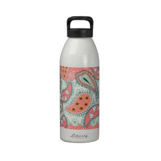 Boho Paisley Border Reusable Water Bottle