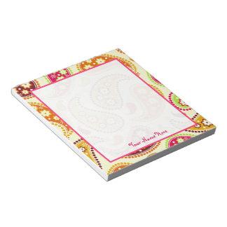 Boho Paisley Personalized Notepad