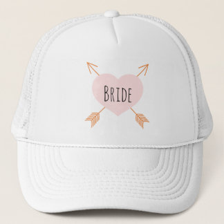 Boho Pink Heart and Arrows Trucker Hat