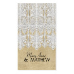 BOHO Printed Burlap n Lace gypsy Modern Mod Style Pack Of Standard Business Cards