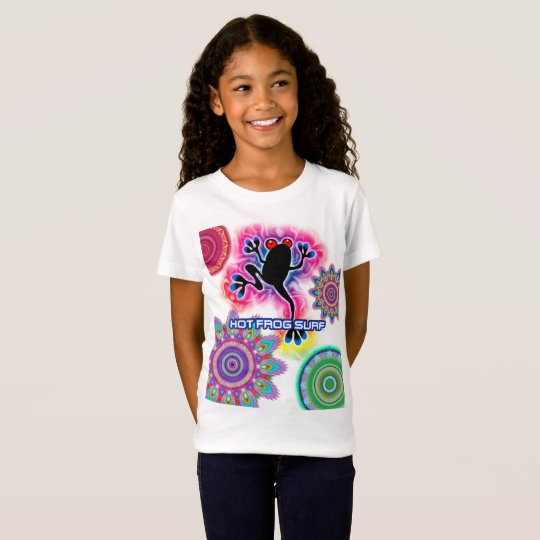 Boho psychedelic Surf Frog Jersey T shirt