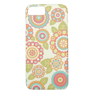 Boho Retro Funky Flowers Floral Pattern (Cream) iPhone 8/7 Case