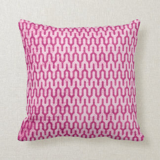 Boho Retro Weave Pattern in Pinks Throw Cushions