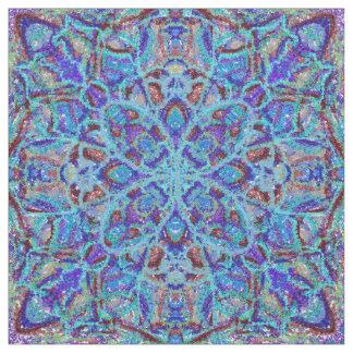 Boho-romantic colored mandala ornament arabesque fabric