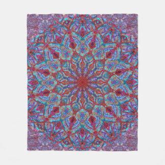 Boho-romantic colored mandala ornament arabesque fleece blanket