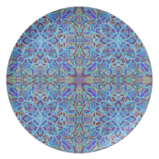 Boho-romantic colored mandala ornament arabesque plate