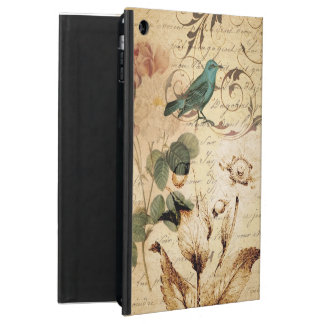 boho Rose Paris Scripts french bird botanical iPad Air Cover