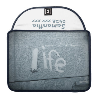 Boho Rustic Blue Inspirational Life MacBook Pro Sleeves