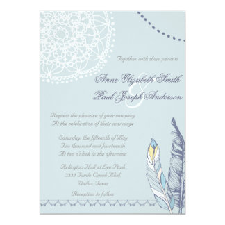 Boho rustic wedding invitation III