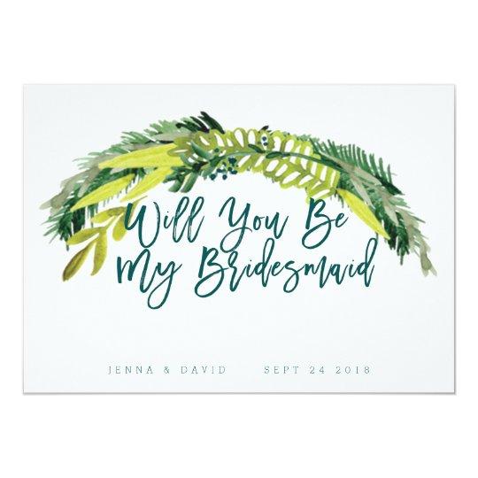 Boho Rustic Will You Be My Bridesmaid Card
