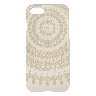 Boho Sand Tribal Circle Mandala Tan Earthen Brown iPhone 8/7 Case