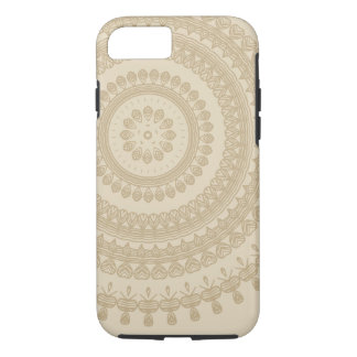 Boho Sand Tribal Circle Mandala Tan Earthen Brown iPhone 8/7 Case