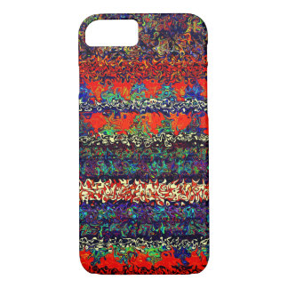 Boho Stripes on Fire Orange Denim Pattern iPhone 8/7 Case