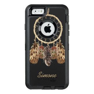 Boho Style Dream Catcher with Custom Monogram OtterBox Defender iPhone Case