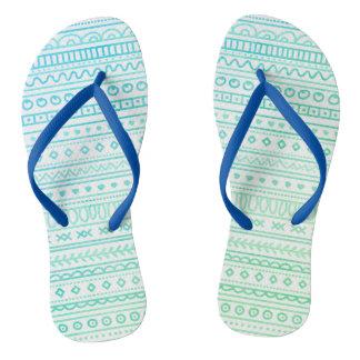 Boho style flip flops