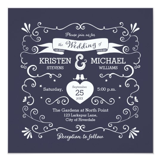 Boho Swirls (Changeable Background Colour) Wedding Card