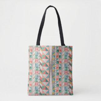 Boho Tapestry Stripe Tote Bag
