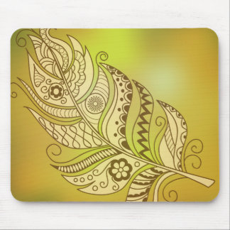boho to feather mouse mat