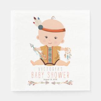 Boho Tribal Baby Shower Napkins Disposable Serviette