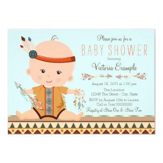 Boho Tribal Boy Baby Shower 13 Cm X 18 Cm Invitation Card
