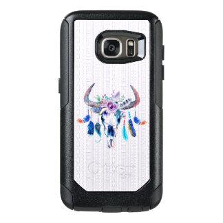 Boho tribal Bull Skull OtterBox Samsung Galaxy S7 Case