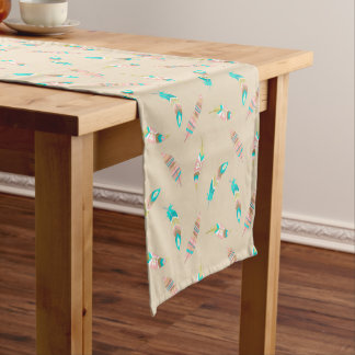 Boho Tribal Chic Feathers Table Runner