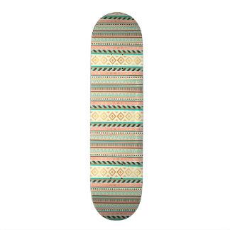 Boho Tribal Chic Geometric Stripes Skateboard