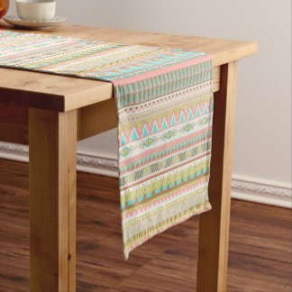 Boho Tribal Chic Geometric Stripes Table Runner