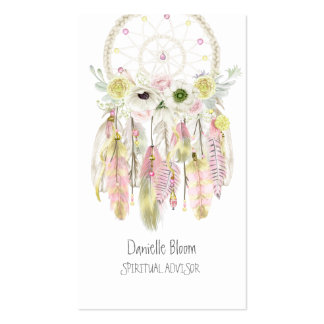Boho Tribal Dream Catcher Arrows Feathers Flowers Pack Of Standard Business Cards
