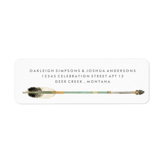 Boho Tribal Green Arrow | Return Address Labels