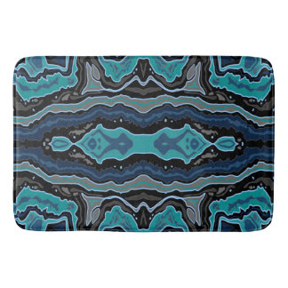Boho Turquoise Abstract Bath Mat Bath Mats