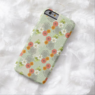 Boho Vintage Flowers iPhone 6 Case Barely There iPhone 6 Case