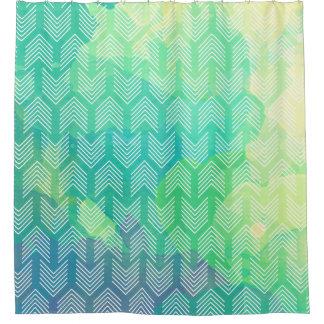 Boho Watercolor Arrows Shower Curtain
