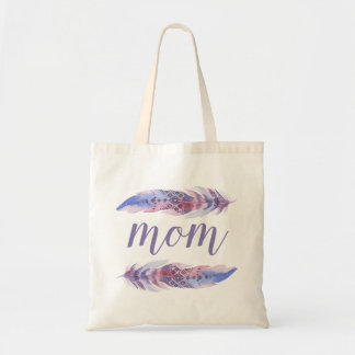 Boho Watercolor Feathers | Mother's Day Tote Bag
