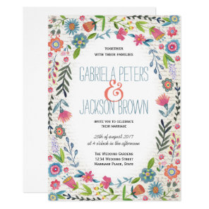 Boho Watercolor Floral | Wedding invitations