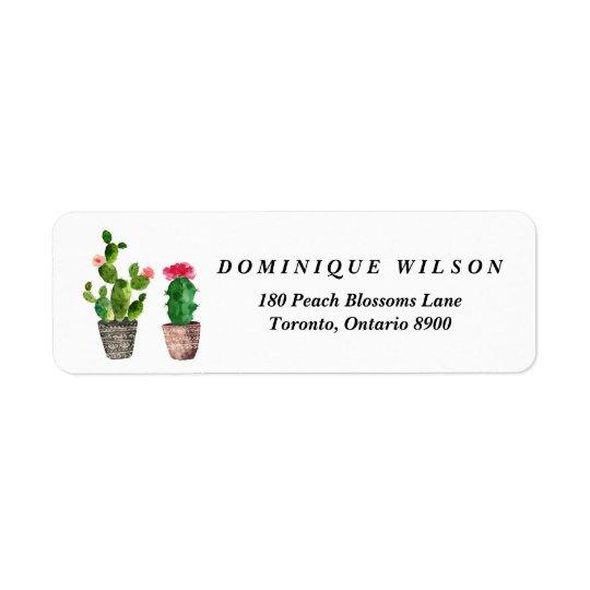Boho Watercolor Succulents Customisable Return