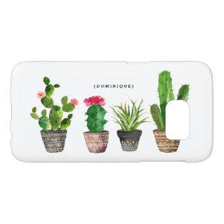 Boho Watercolor Succulents Personalized Modern