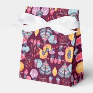 Boho Watercolor Tribal Pattern Favor Box