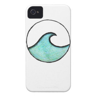 Boho Wave Painting iPhone 4 Case-Mate Case
