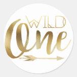 Boho Wild One | First Birthday Party Round Sticker